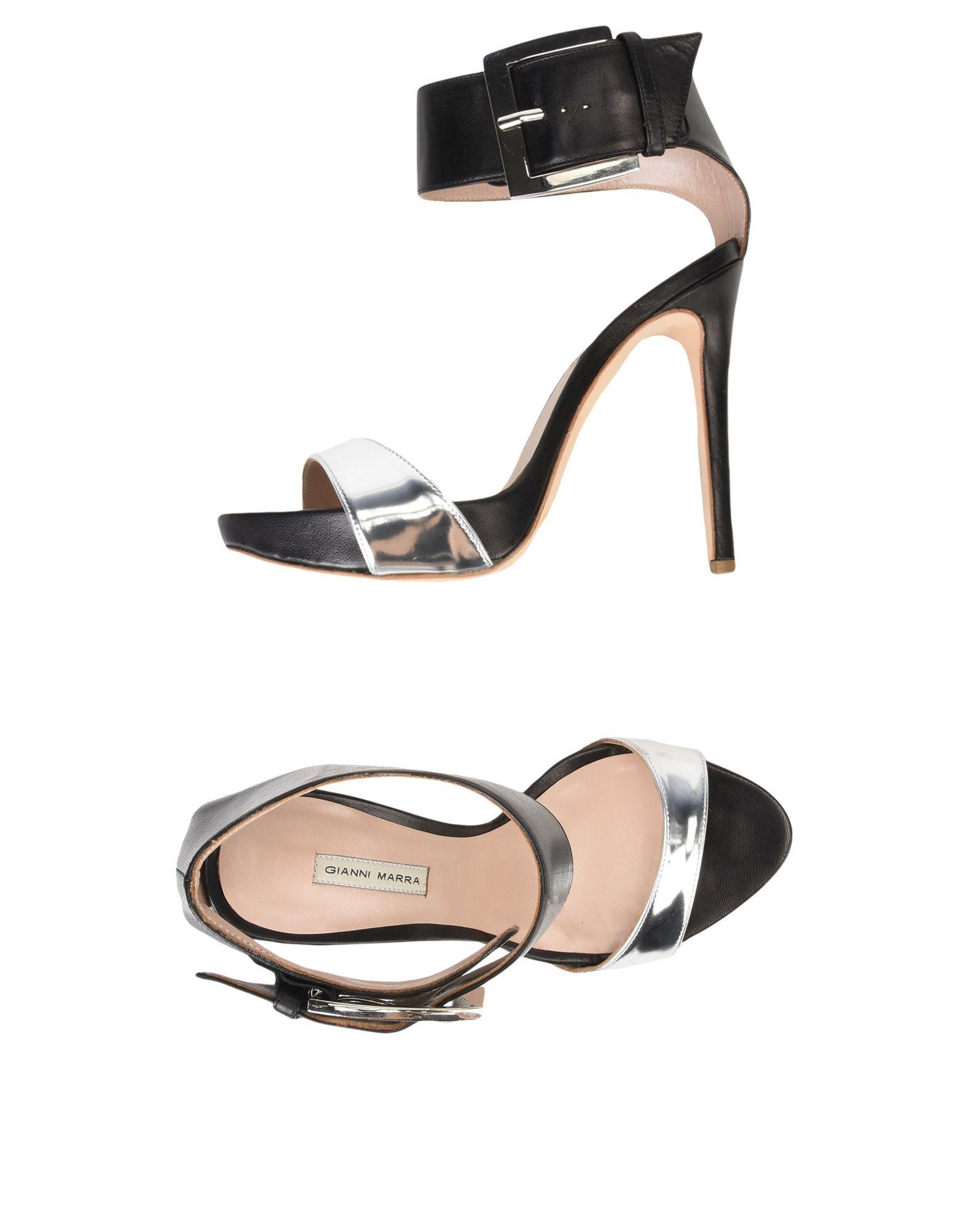 GIANNI MARRA Sandals in Silver