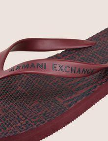 ARMANI EXCHANGE PRINTED FLIP-FLOPS flip-flop [*** pickupInStoreShippingNotGuaranteed_info ***] e