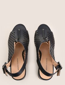 ARMANI EXCHANGE DIAMOND PERFORATED ZIP-UP SANDAL Sandals [*** pickupInStoreShipping_info ***] e