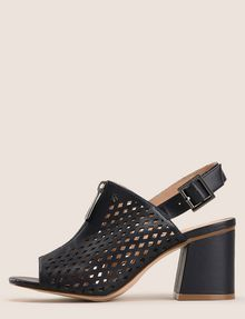 ARMANI EXCHANGE DIAMOND PERFORATED ZIP-UP SANDAL Sandals [*** pickupInStoreShipping_info ***] f