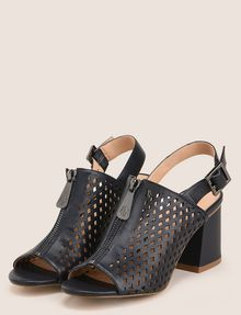 ARMANI EXCHANGE DIAMOND PERFORATED ZIP-UP SANDAL Sandals [*** pickupInStoreShipping_info ***] r