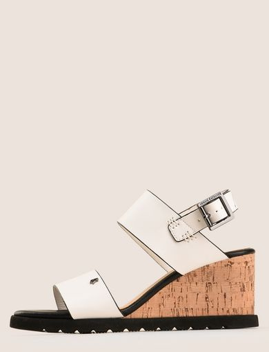 COLORBLOCK CORK WEDGE SANDAL