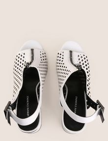 ARMANI EXCHANGE DIAMOND PERFORATED ZIP-UP SANDAL Sandals Woman e