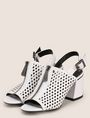 ARMANI EXCHANGE DIAMOND PERFORATED ZIP-UP SANDAL Sandals Woman r