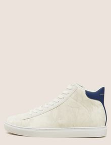 ARMANI EXCHANGE SNAKE-EMBOSSED HIGH-TOP SNEAKERS Sneakers Man f