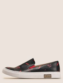 ARMANI EXCHANGE MIXED FLORAL SLIP-ON SNEAKERS SLIP-ON Woman f