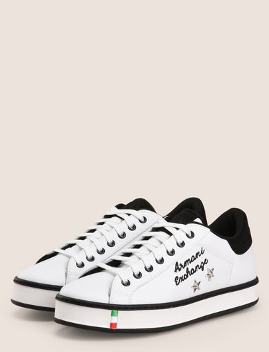ITALY STAR STUD LEATHER SNEAKERS