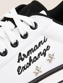 ARMANI EXCHANGE ITALY STAR STUD LEATHER SNEAKERS Sneaker Woman a