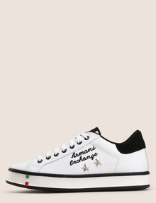 ARMANI EXCHANGE ITALY STAR STUD LEATHER SNEAKERS Sneaker Woman f