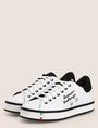 ARMANI EXCHANGE ITALY STAR STUD LEATHER SNEAKERS Sneaker Woman r