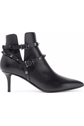 VALENTINO Rockstud leather ankle boots