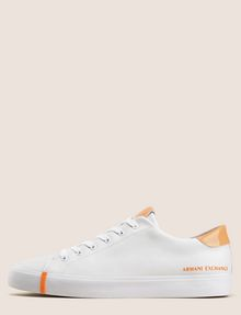 ARMANI EXCHANGE PATENT-DETAIL COLORBLOCKED LOW-TOP Sneaker Woman f