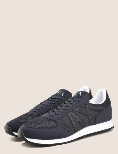 RETRO LOW-TOP LOGO SNEAKERS