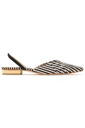 ZIMMERMANN Striped twill point-toe flats