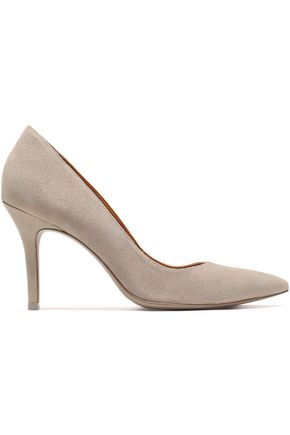 WOMAN SUEDE PUMPS TAUPE