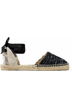 MANEBÍ Woven and embellished tweed espadrilles