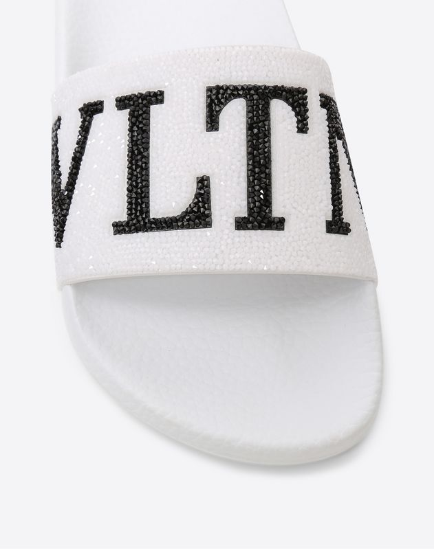 VLTN Rubber slide with Swarovski