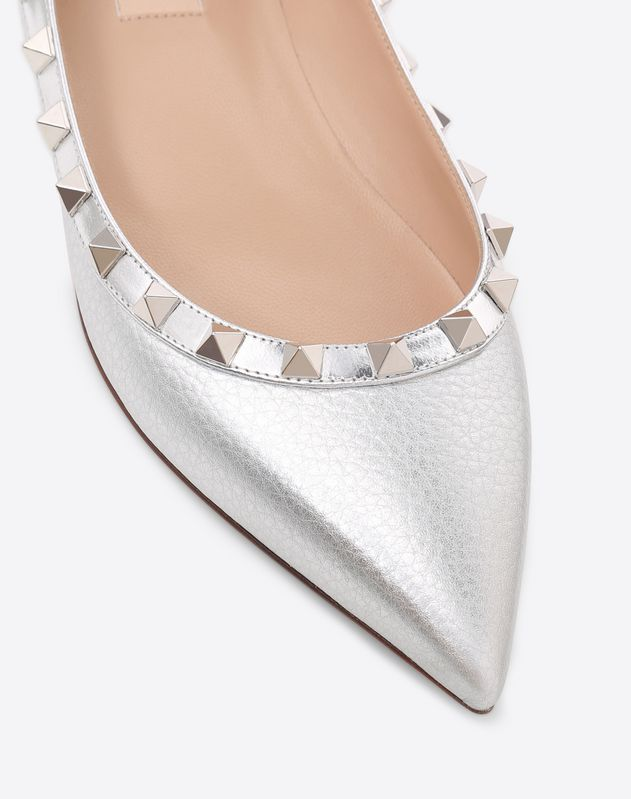Rockstud Metallic Ballet Flat