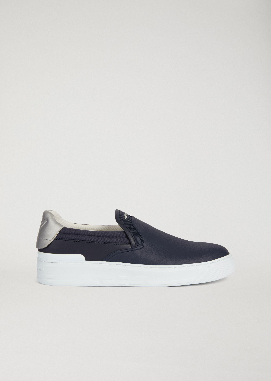 logo slip on sneakers - Blue Emporio Armani 9b2w3qFGsJ