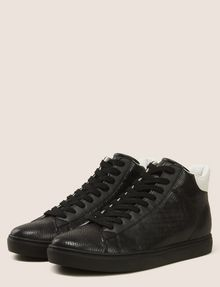 ARMANI EXCHANGE SNAKE-EMBOSSED HIGH-TOP SNEAKERS Sneakers Man r