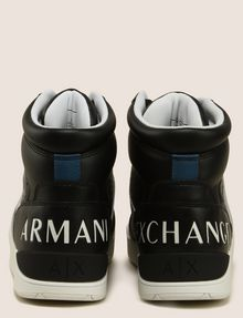 ARMANI EXCHANGE PERFORATED LOGO HIGH-TOP SNEAKERS Sneakers Man d