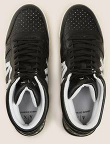 ARMANI EXCHANGE PERFORATED LOGO HIGH-TOP SNEAKERS Sneakers Man e