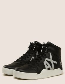 ARMANI EXCHANGE PERFORATED LOGO HIGH-TOP SNEAKERS Sneakers Man r