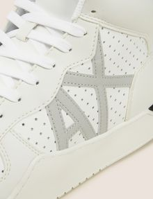 ARMANI EXCHANGE PERFORATED LOGO HIGH-TOP SNEAKERS Sneaker Man a