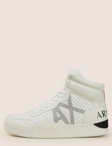 ARMANI EXCHANGE PERFORATED LOGO HIGH-TOP SNEAKERS Sneaker Man f