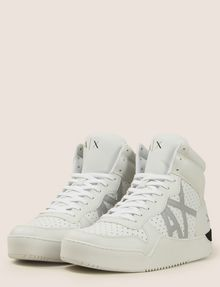 ARMANI EXCHANGE PERFORATED LOGO HIGH-TOP SNEAKERS Sneaker Man r