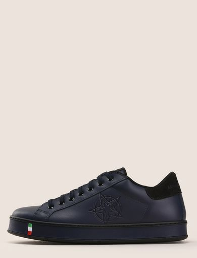 MADE IN ITALY LEATHER STAR SNEAKERS