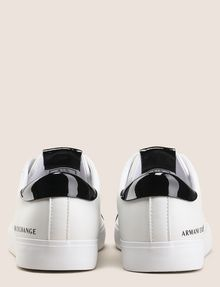 ARMANI EXCHANGE PATENT-DETAIL COLORBLOCKED LOW-TOP Sneaker Woman d