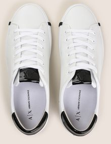 ARMANI EXCHANGE PATENT-DETAIL COLORBLOCKED LOW-TOP Sneakers Woman e
