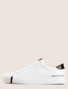 ARMANI EXCHANGE PATENT-DETAIL COLORBLOCKED LOW-TOP Sneakers Woman f