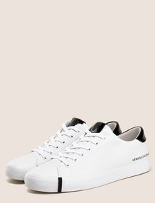 ARMANI EXCHANGE PATENT-DETAIL COLORBLOCKED LOW-TOP Sneaker Woman r