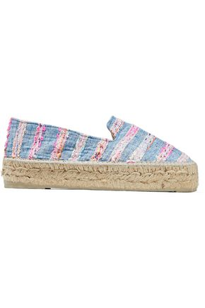 MANEBÍ Striped tweed and denim espadrilles