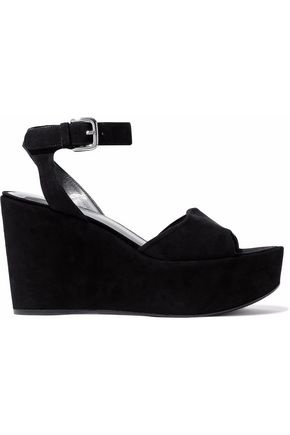 STUART WEITZMAN Suede wedge sandals