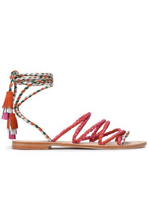 ANTIK BATIK Multicolored braided leather sandals