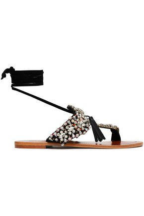 ANTIK BATIK Embellished suede sandals