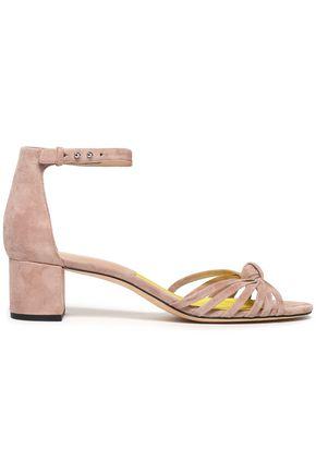 DIANE VON FURSTENBERG Knotted suede sandals