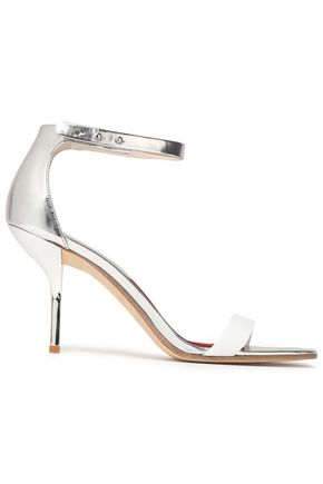 DIANE VON FURSTENBERG Suede and metallic leather sandals