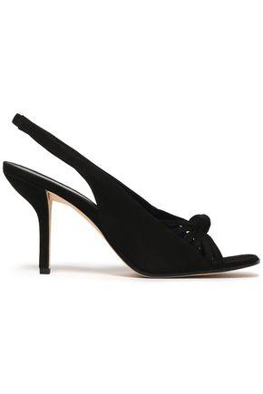 Diane Von Furstenberg Woman Farah Suede Slingback Sandals Black Size 6.5 Diane Von Fürstenberg 4m8Nf