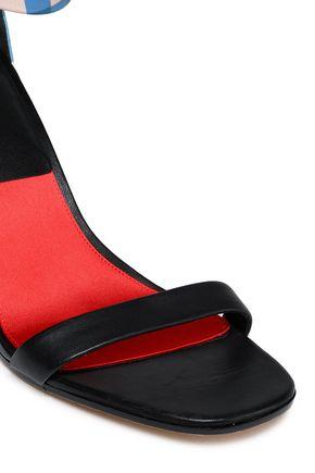 DIANE VON FURSTENBERG Ferrara gingham leather sandals