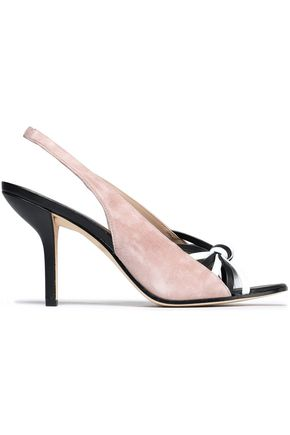 DIANE VON FURSTENBERG Knotted leather and suede sandals
