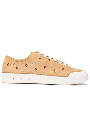 RAG & BONE Standard Issue embroidered suede sneakers