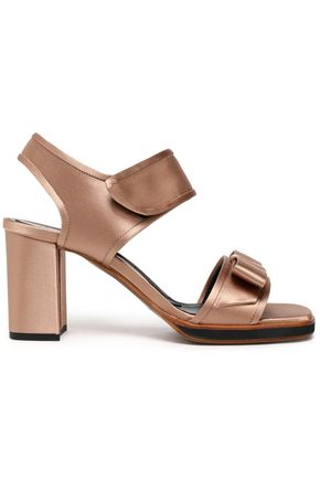 MARNI Bow-detailed silk-satin sandals