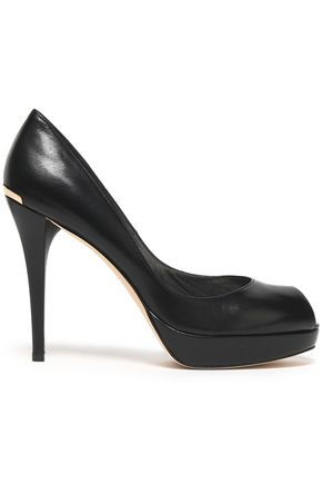 STUART WEITZMAN Leather platform pumps
