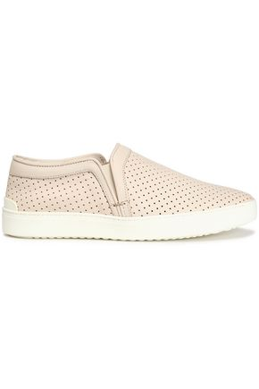 RAG & BONE Perforated leather slip-on sneakers