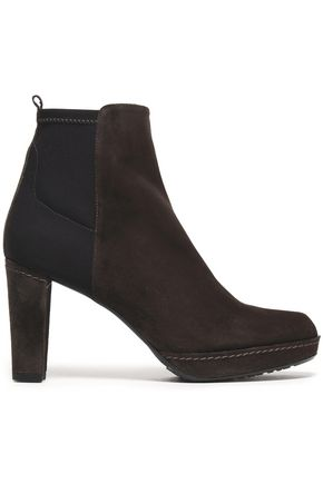 STUART WEITZMAN Paneled suede ankle boots