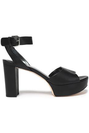 STUART WEITZMAN Textured-leather platform sandals